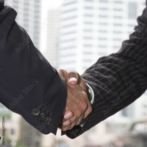 Businessmen shaking hands.