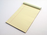 Yellow Legal pad page flipped poster