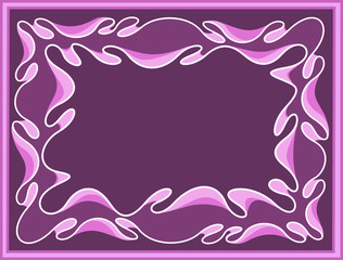 Abstract violet background with Byzantium wavy ornament