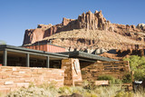 Visitors center at Capital Reef National Park with The Castle poster