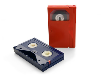 Video cassette, isolated on white background