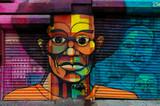 Twarz czarnego człowieka- graffiti - 5760244