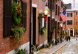 Acorn Street, old Boston charm in Beacon Hill