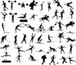 vecteur silhouette d'athlètes