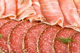 Parma ham and salami poster