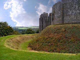 Detail of Restormel castle in Cornwall