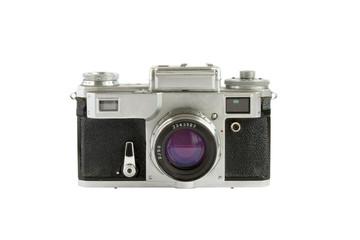 Old rangefinder camera isolated