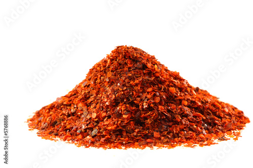 heap of Aleppo Flakes red chilies pepper