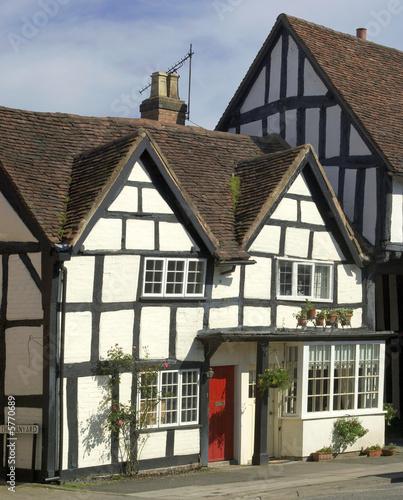 poster of the high street henley in arden village warwickshire england uk