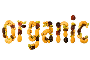 fruit and nut mix symbolizing organic