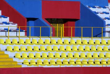 tribune colorate dello stadio