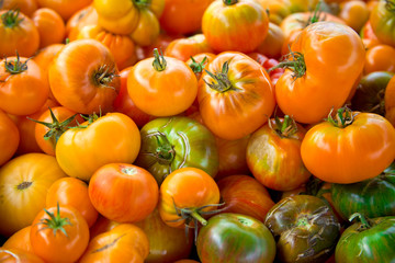 Pile of Assorted Heirloom Tomatoes