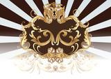 Dekorativ Schild Gold Braun poster