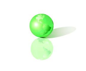 Terre 3D - vert