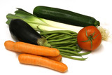Several vegetables on a white background poster