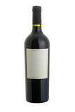 Isolated red wine bottle with cliiping path