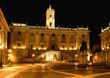 Piazza del Campidoglio, Roma notturna, Italia