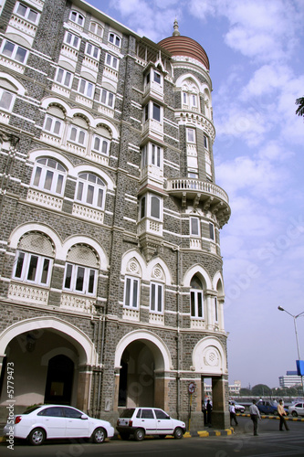 streetside view of Taj Mahal hotel, mumbai, india