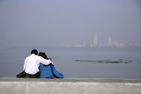 young couple sharing intimate moment, india poster