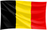 flag of the kingdom of belgium poster