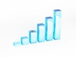 profit business 3d histogram