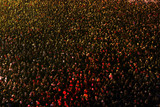 Crowd of people at a concert eve poster