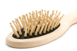 object on white - tool wood hairbrush poster