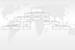 Leinwanddruck Bild - Organigramme et monde international