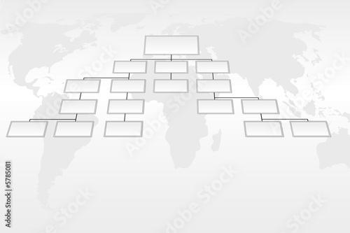 Leinwanddruck Bild Organigramme et monde international