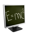 monitor with formula isolated on white background poster