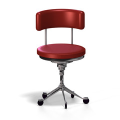 old fashioned office chair or from medical practise - with Clipp