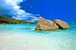 Leinwandbild Motiv anse lazio seychelles