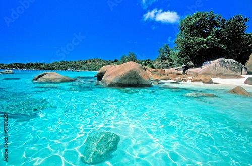 Leinwanddruck Bild anse lazio seychelles