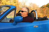 Man in a Blue Convertible poster