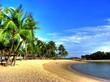 Leinwanddruck Bild - Singapur - Siloso Beach (Sentosa Island)