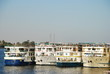 Hotel boats at Nile Luxor Egypt 2