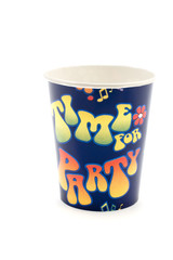 object on white - kitchen utensil - paper cup