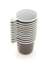 object on white - kitchen utensil - plastic cup