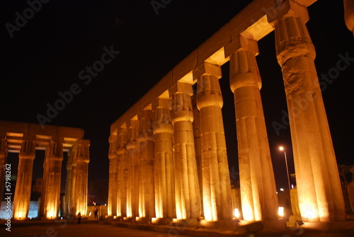 columns at Luxor Temple Egypt 3