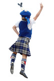 A girl doing a scottish dance poster