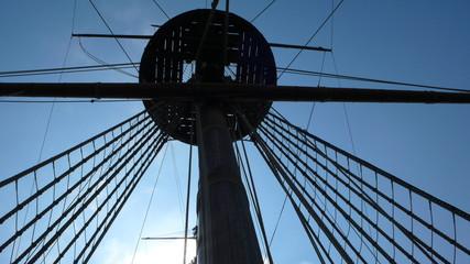 mastil barco epoca