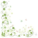 Fototapety Floral frame green