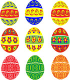hand painted easter eggs in several designs poster
