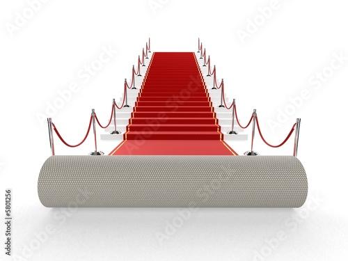 roter teppich auf stufen Stockfotos und lizenzfreie