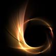 Leinwanddruck Bild - Feuer auf schwarzem Hintergrund