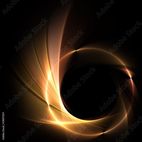 Leinwanddruck Bild Feuer auf schwarzem Hintergrund
