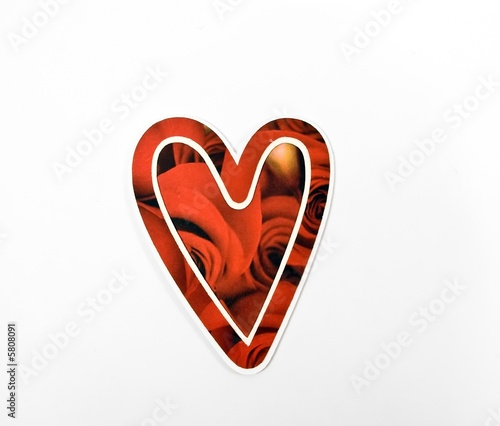 Red Patterned Valentine Heart