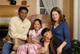 Interracial Family Portrait poster