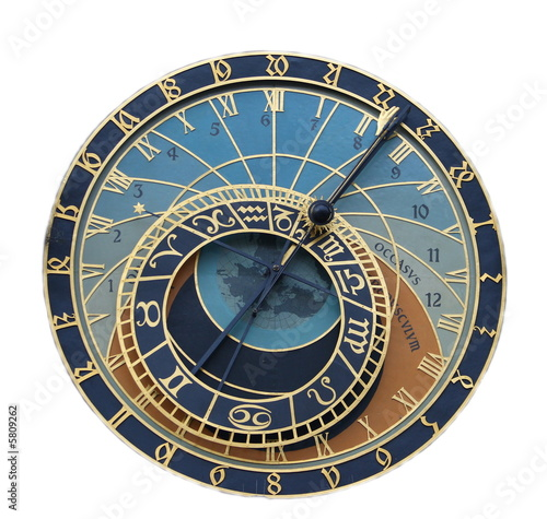 A astronomical clock in Prague, Czech republic