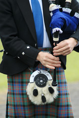 Bagpipes and Sporran
